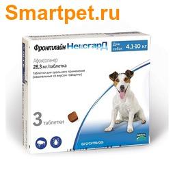 Фронтлайн НексгарД таблетки жевательные для собак 4-10кг