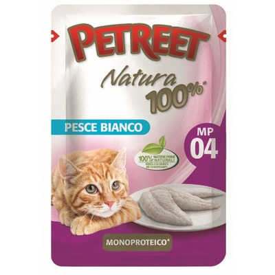 Petreet Пауч для кошек Белая рыба
