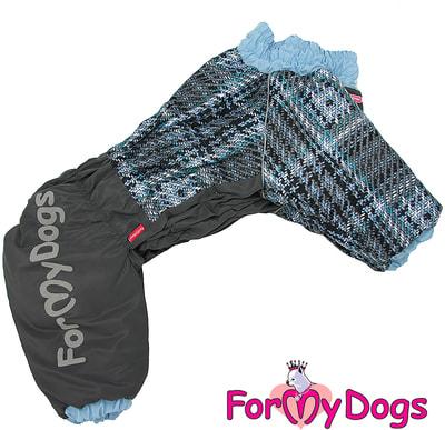ForMyDogs Теплый комбинезон для больших собак Серо/голубой на мальчика (фото)