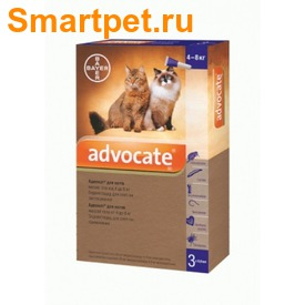 Bayer Адвокат антипаразитарный препарат для кошек от 4 до 8 кг