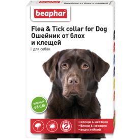 BEAPHAR Ошейник для собак от блох и клещей 65см (фото)