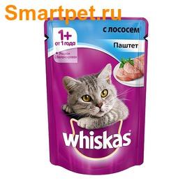 Whiskas Пауч для кошек Паштет Лосось