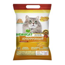 Homecat Кукурузный комкующийся наполнитель Эколайн
