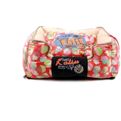Katsu Лежак - диван Пироженка для собак и кошек красный (фото)