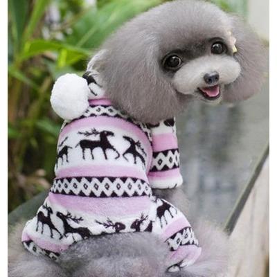 Smartpet Флисовый костюм для маленьких собак Скандинавия розовый