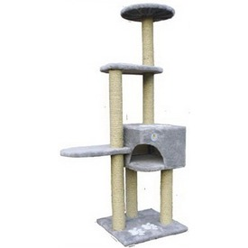Зооник Комплекс для кошки 4-х этажный с апликацией