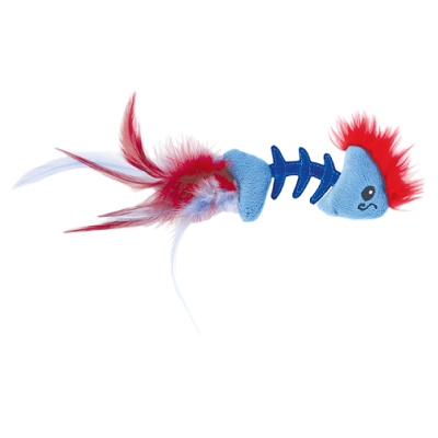 Petstages Игрушка для кошек Play Fish Bone голубая (фото)