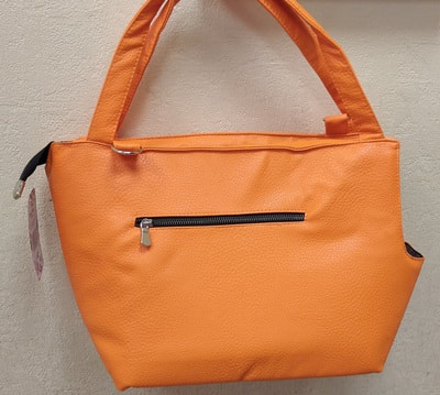 DOGMAN Сумка переноска для собак Лето из кожзама оранжевая (фото)