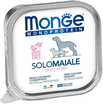 Monge Dog Monoprotein Solo консервы для собак паштет из свинины (фото)