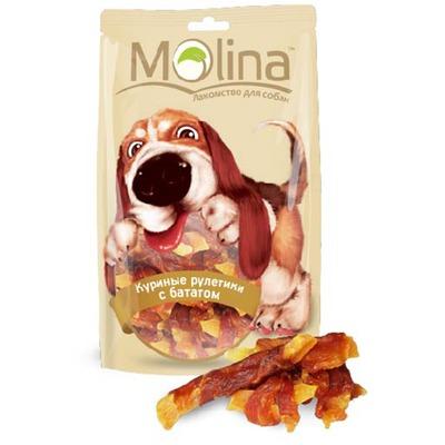Molina Лакомство для собак Куриные рулетики с бататом
