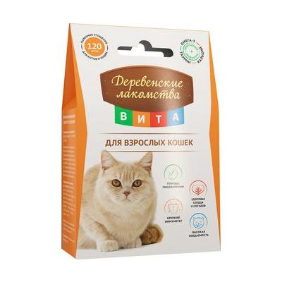 Деревенские лакомства ВИТА Витаминизированное лакомство для кожи и шерсти для кошек