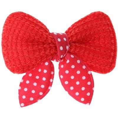 ForMyDogs Бантик-заколка для волос собак текстильный красный