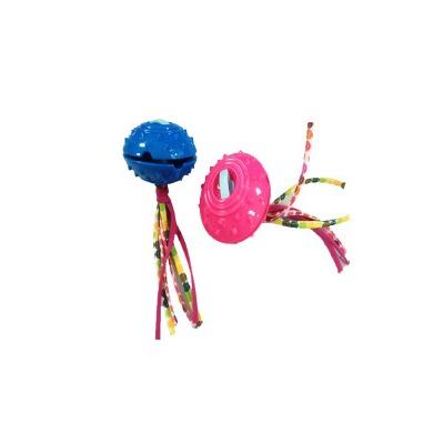 4 My Pets Игрушка для собак резиновая для лакомств НЛО с канатиками