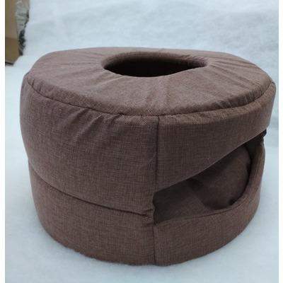 Бобровый дворик Домик для собак и кошек Шайба - Трансформер из рогожки 46*38*17см
