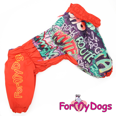 ForMyDogs Дождевик для крупных собак Граффити для девочек