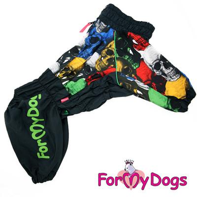 ForMyDogs Дождевик на крупные породы собак Череп мальчик (фото)