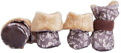OSSO Ботиночки-носочки для мелких собак на меху, подошва кожзам (фото)