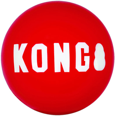 Kong Игрушка для собак Signature Ball Мячик размер М (фото)