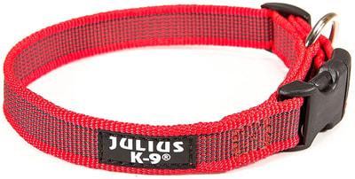JULIUS-K9 Ошейник для собак Color & Gray, красно-серый (фото)