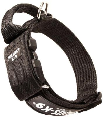 JULIUS-K9 Ошейник для собак Color & Gray, с закрытой ручкой, черно-серый (фото)