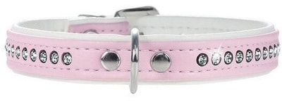 Hunter Smart ошейник для собак Modern Luxus кожзам 1 ряд страз розовый