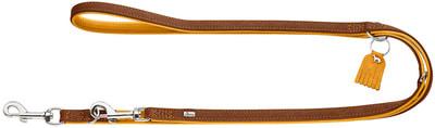 Hunter Поводок-перестежка для собак Lucca 15/200 кожа, горчица 66744