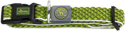 Hunter Ошейник для собак Hilo Vario Basic, сетчатый текстиль, лайм (фото)