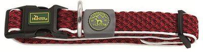 Hunter Ошейник для собак Hilo Vario Basic, сетчатый текстиль, красный (фото)