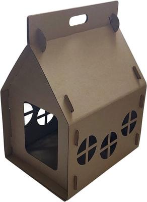 Антицарапки Картонный домик для кошек Теремок (фото)
