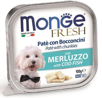 Консервы Monge Dog Fresh для собак треска (фото)