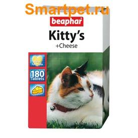 BEAPHAR Kitty's + Cheese - витамины в виде лакомства с сыром для кошек (фото)