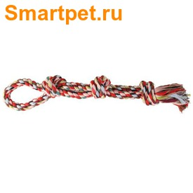 Trixie Игрушка Веревка разноцветная двойная с узлами