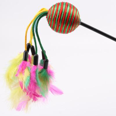 Smartpet Удочка-дразнилка Шарик с перьевыми хвостиками