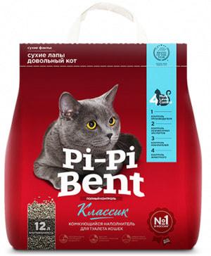 Наполнитель Pi-Pi Bent Classic для кошек натуральный комкующийся (фото)