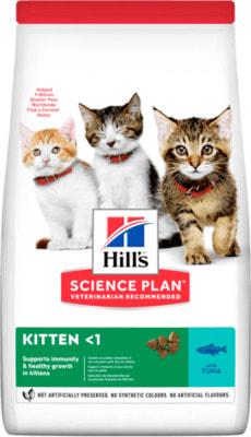 HILL'S Kitten Healthy Development Tuna Сухой корм для котят c 3 недель с тунцом