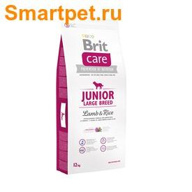 Brit Care Junior Large Breed Lamb & Rice для щенков крупных пород с ягненком (фото)