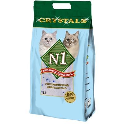 №1 Наполнитель кошачий Crystals силикагелевый голубой (фото)