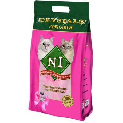№1 Наполнитель кошачий Crystals for girls