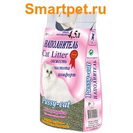Pussy-Cat Наполнитель для кошачьего туалета Комкующийся розовый (фото)