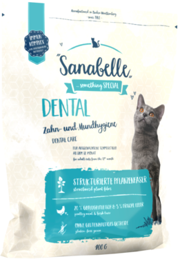 Сухой корм Sanabelle Dental для кошек Профилактика заболеваний полости рта (фото)