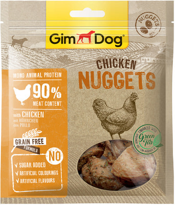 Gimpet Лакомство для собак Куриные наггетсы
