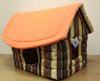 Бобровый дворик Домик для собак и кошек Избушка 62х52х47см (фото)
