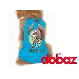 Dobaz Маечка для собак голубая с рисунком индейца