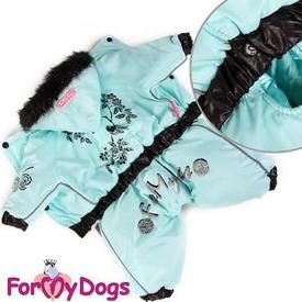 ForMyDogs Комбинезон для мелких пород собак Сакура голубой, мальчик