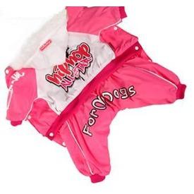 ForMyDogs Комбинезон на теплом гладком меху розовый девочка (фото)