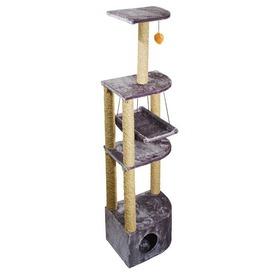 Дарэлл Домик - когтеточка 4-х уровневый угловой с гамаком