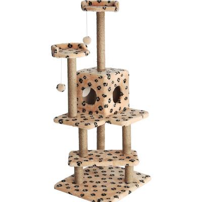 Smartpet Игровой комплекс Лестница для кошек Бежевый с лапками