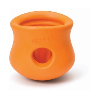 Zogoflex Игрушка под лакомства для собак Toppl S оранжевая (фото)