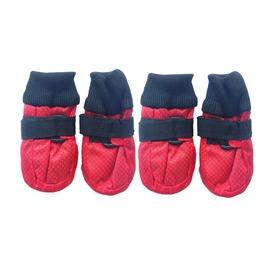 ForMyDogs Ботиночки-носочки текстильные водоотталкивающие, красные