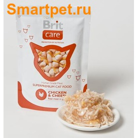 Brit Care Cat Pouches Chicken & Cheese паучи для кошек курица с сыром